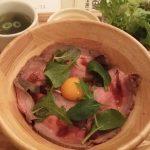 【本日のせどり飯】前橋市内の某カフェのローストビーフ丼(2017/03/21)